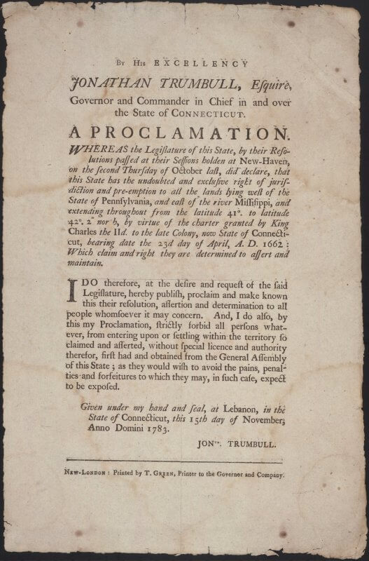If you look closely at this broadside, you might see that the text at the top and bottom have light shadows---a faint double impression caused by an accidental bounce of the paper on the inked type