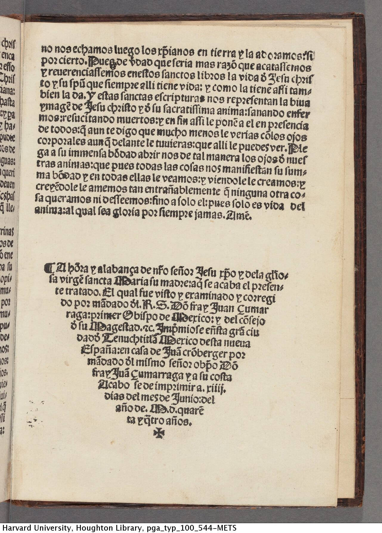 The colophon is printed as a descending triangle as a way of decoratively ending the text, a shape also seen in tailpieces.