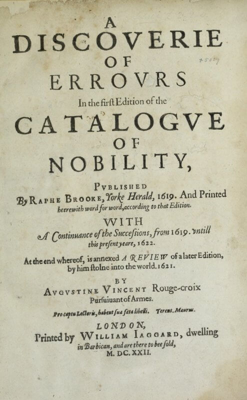 The title page of this work is a bit confusing, and lengthy, because it first names the author of the work in which mistakes have been discovered, before naming the author of this work.
