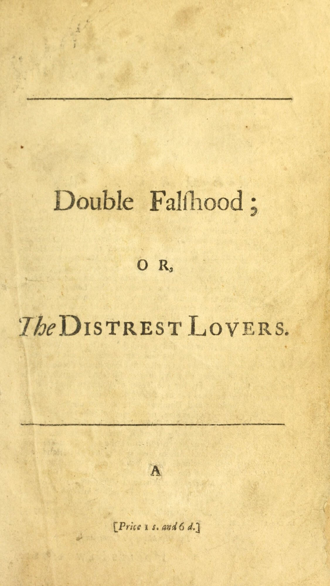 This half-title page includes the price for the volume printed at the bottom of the page. The full imprint can be found on the full title page on the next leaf.