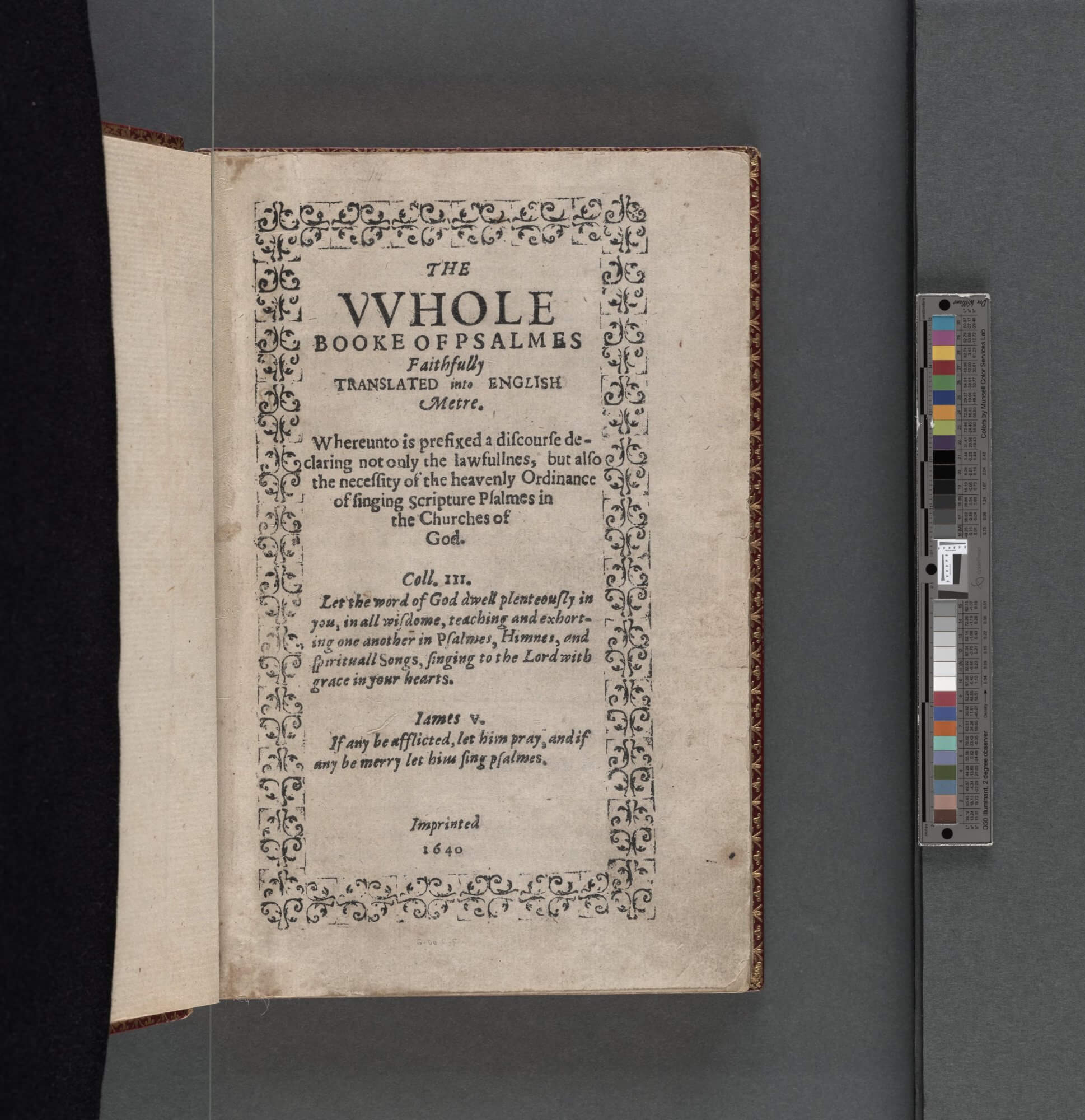 The Bay Psalm Book, as this work is known, is the first book printed in British North America.