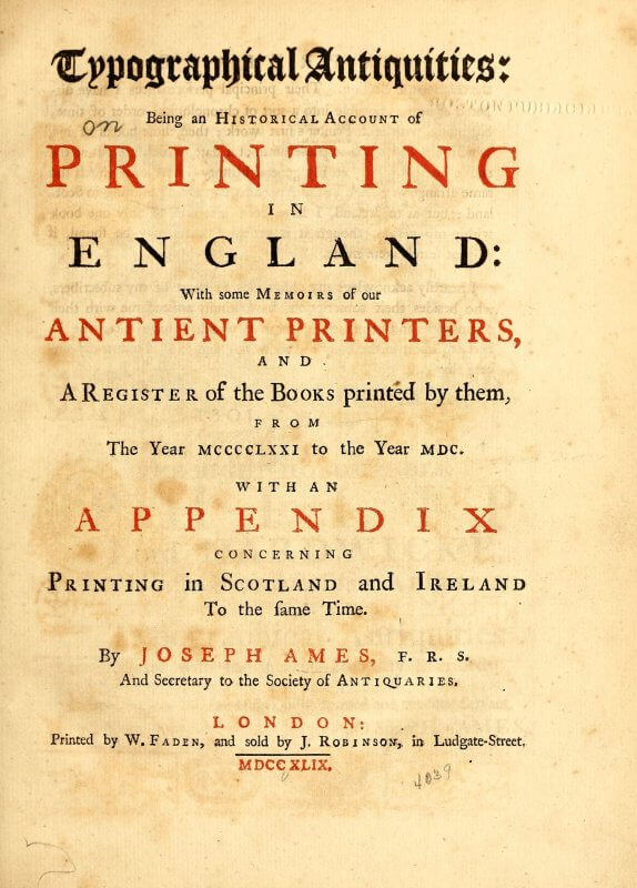 This title page carefully uses a combination of gothic, roman, black, and red letters to evoke the earlier printing that is its subject while still looking enticingly contemporary.